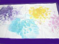 画像2: シルクレインボーショール パステルカラー●染色C